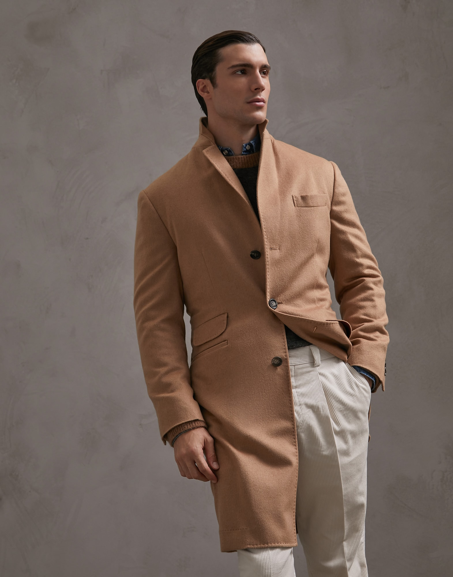Coat Camel Man 1 - Brunello Cucinelli