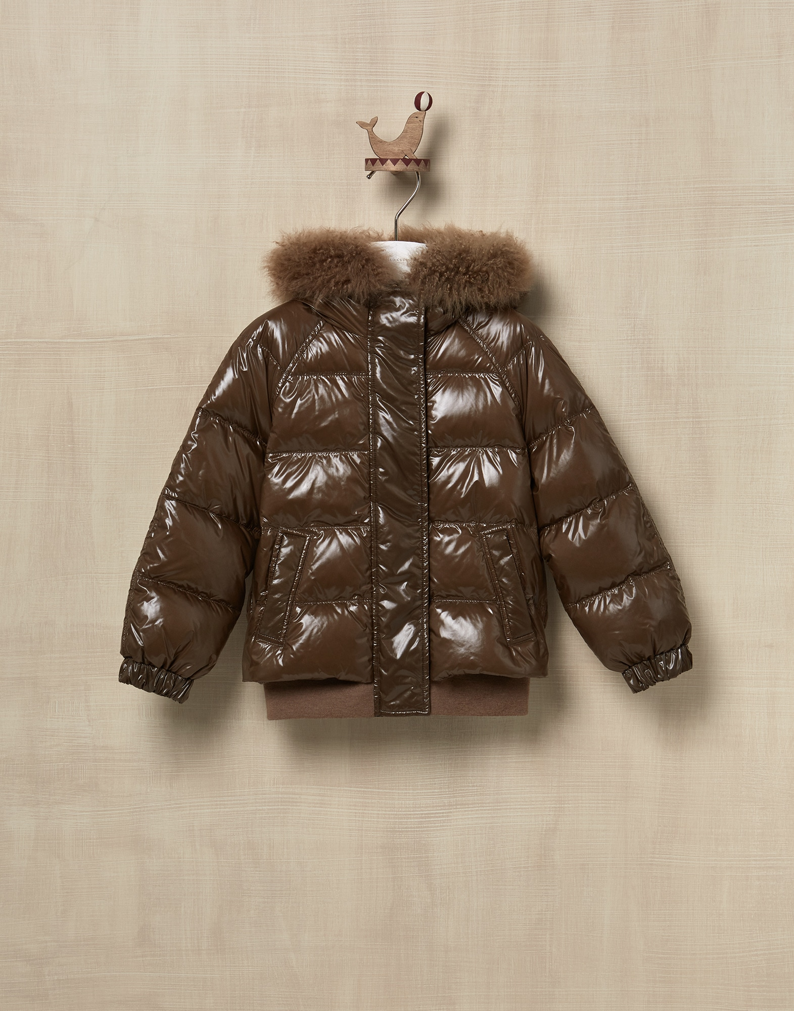 Down Jacket Mud Girl 1 - Brunello Cucinelli