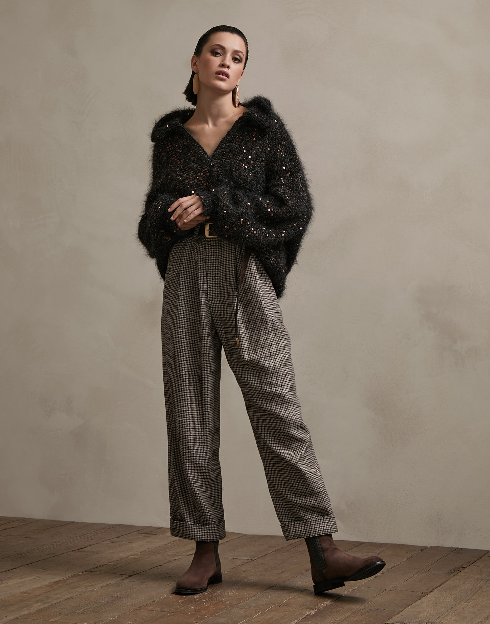 Cardigan Anthracite Woman 4 - Brunello Cucinelli