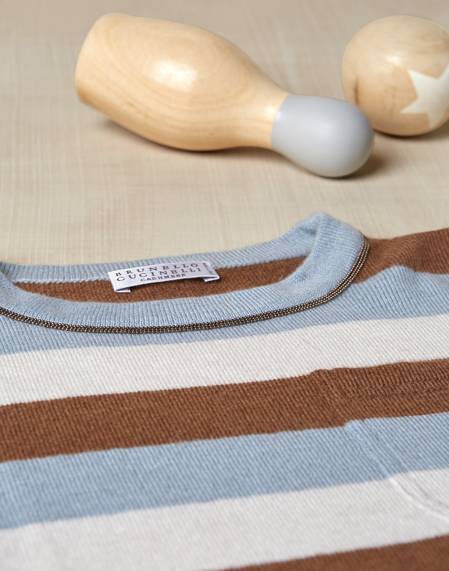 Crewneck Sweater Sky Blue Girl 2 - Brunello Cucinelli