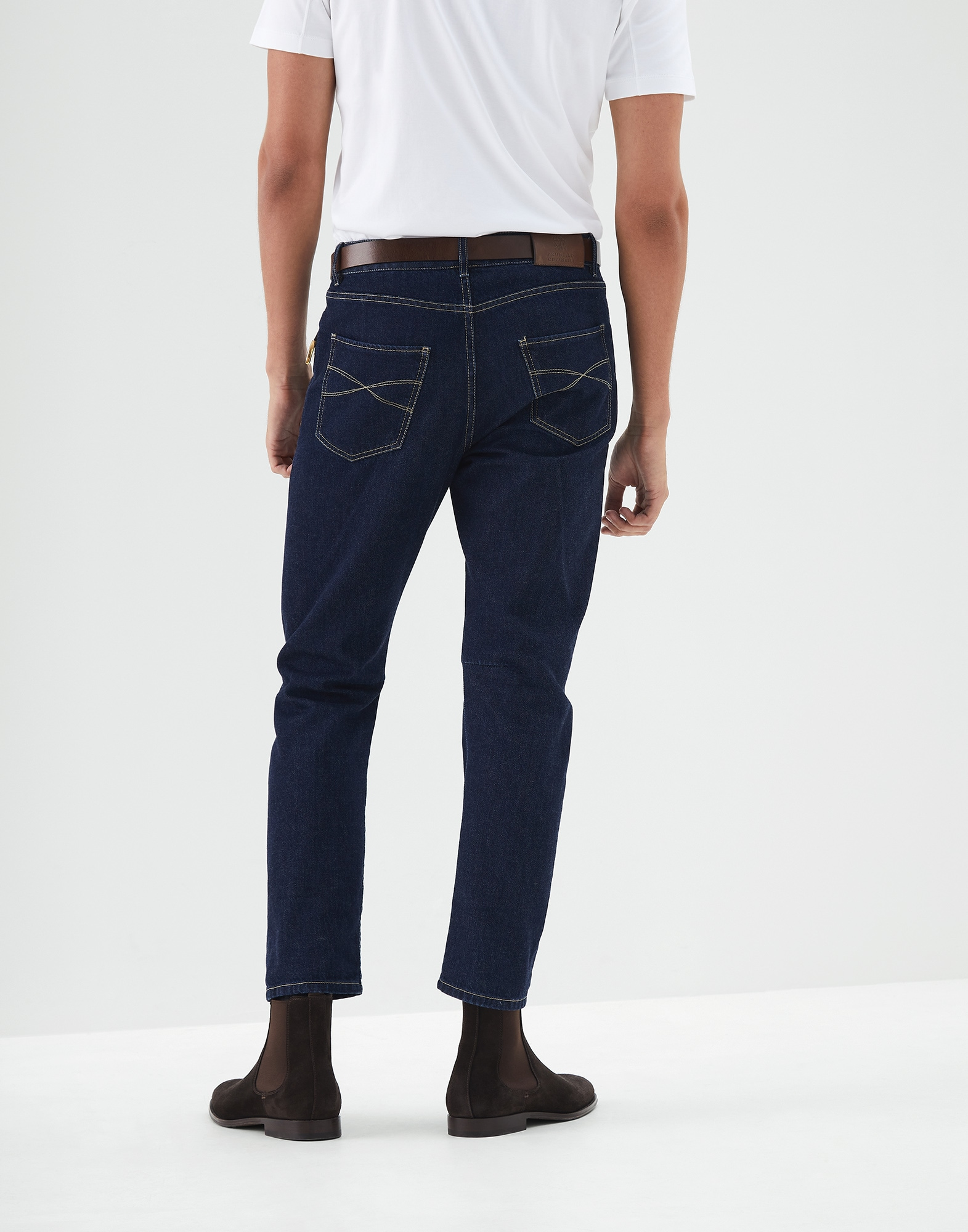 Denim Trousers Dark Denim Man 1 - Brunello Cucinelli