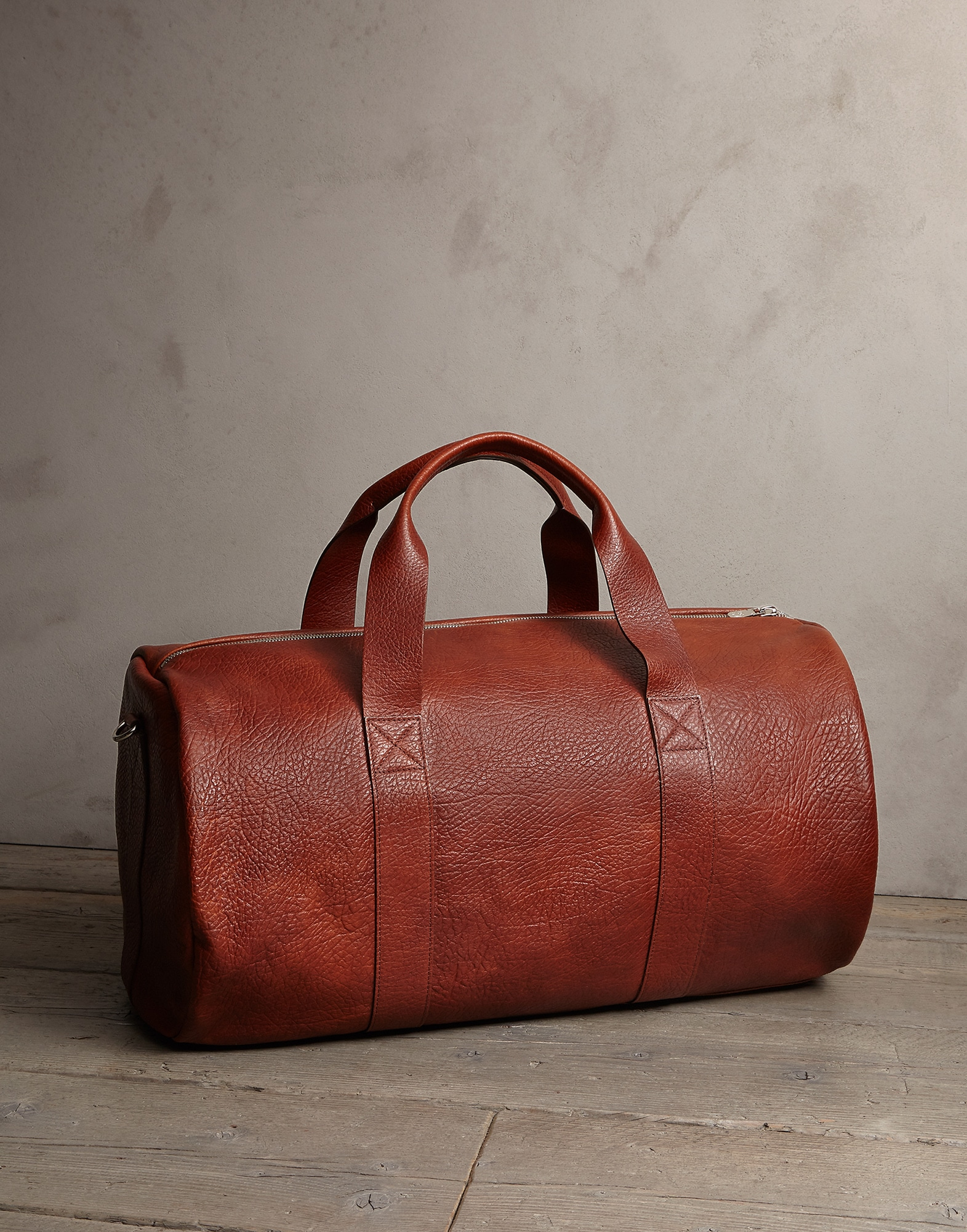 Leisure Bag Cognac Man 1 - Brunello Cucinelli