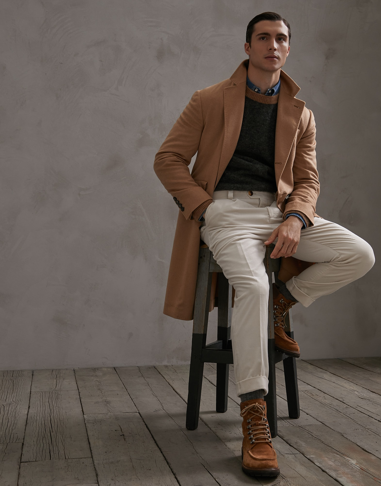 Coat Camel Man 4 - Brunello Cucinelli