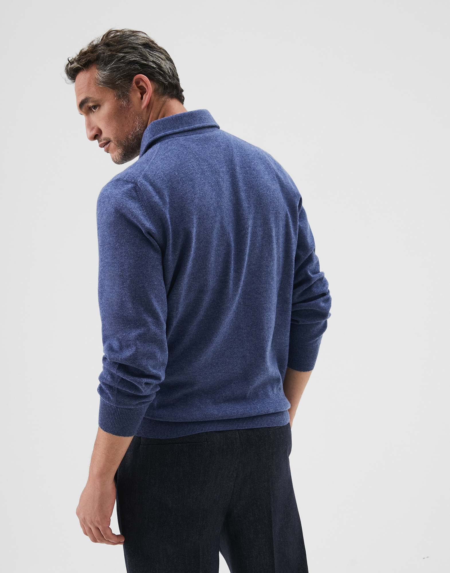 Polo-Style Sweater - Back