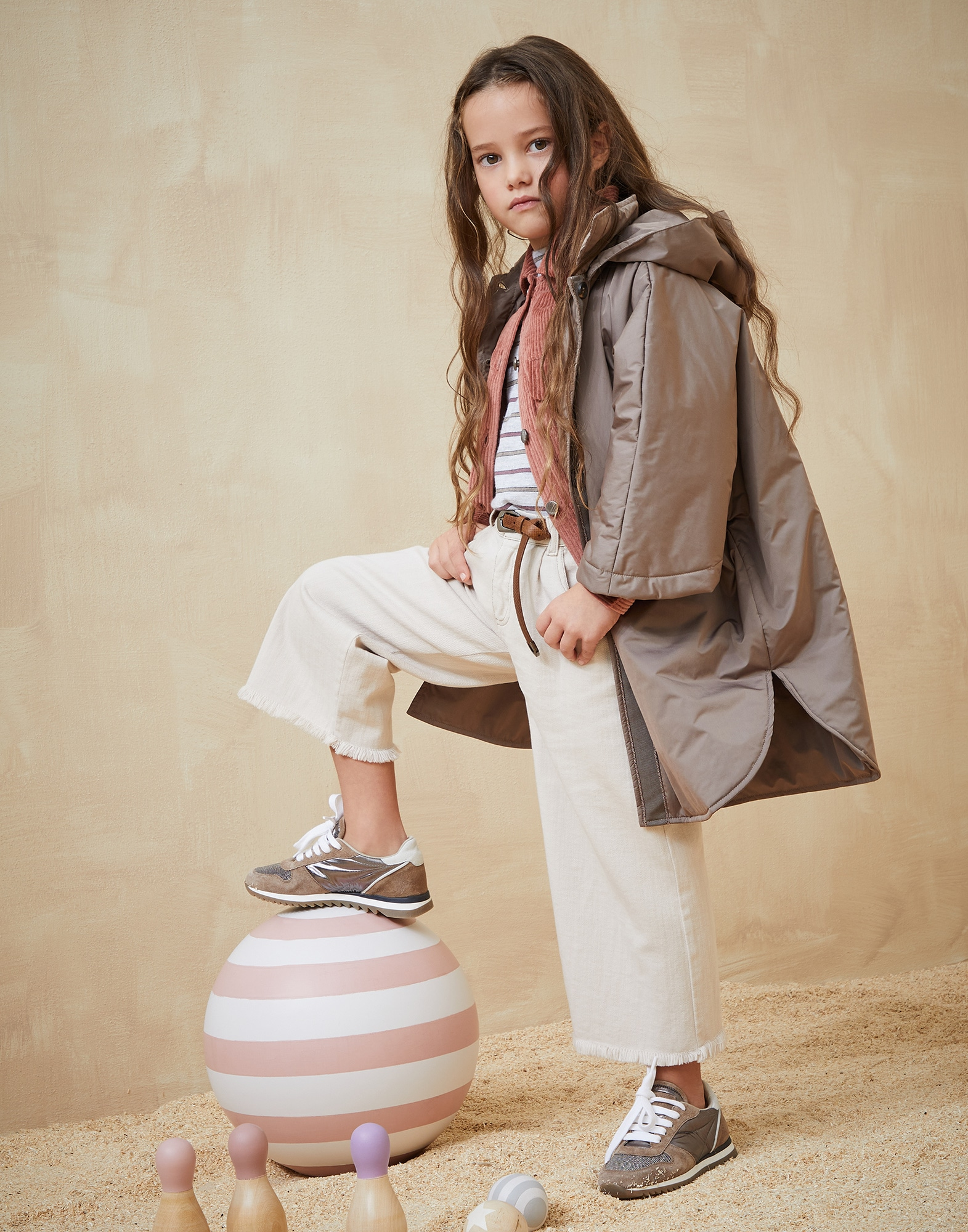 Outerwear Jacket Mud Girl 3 - Brunello Cucinelli