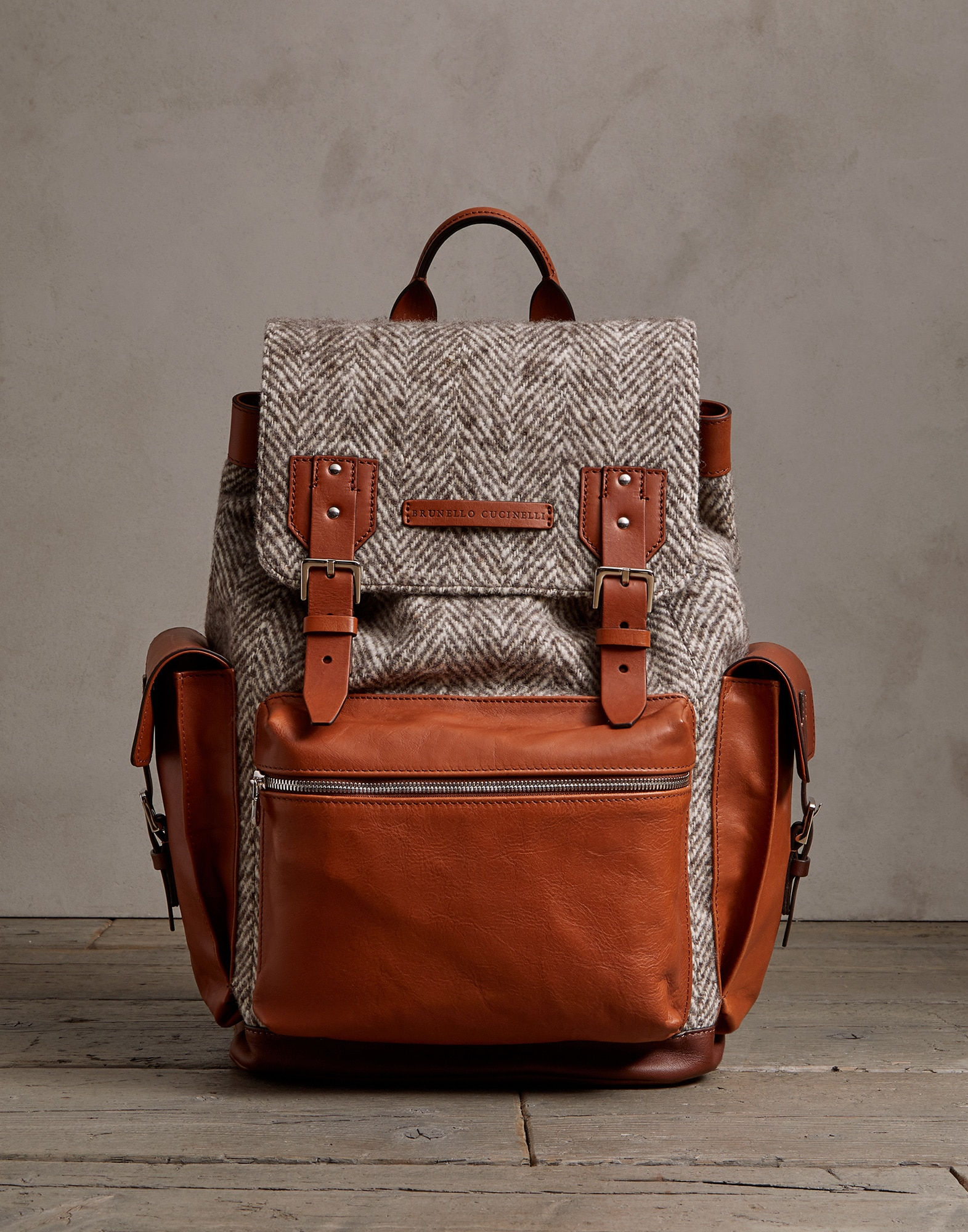 Backpack Brown Man 1 - Brunello Cucinelli