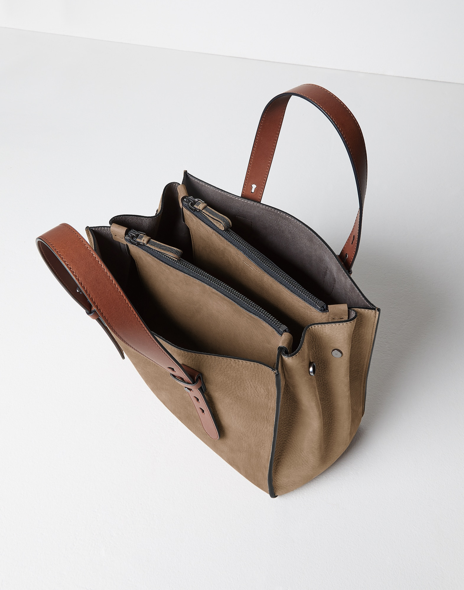 Shopper Bag Hazelnut Woman 3 - Brunello Cucinelli