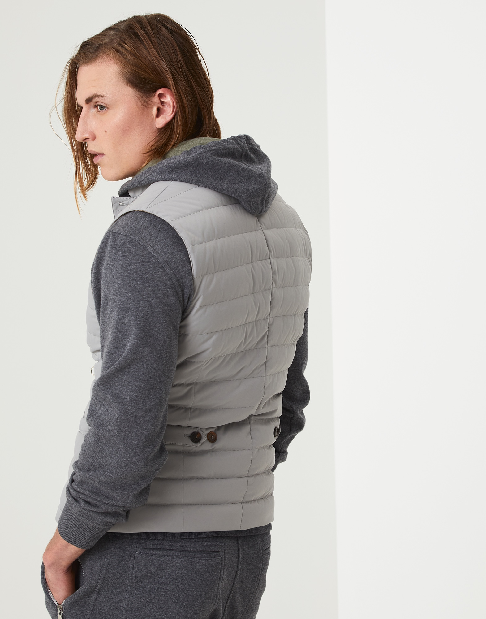 Down Sleeveless Jacket - Back view