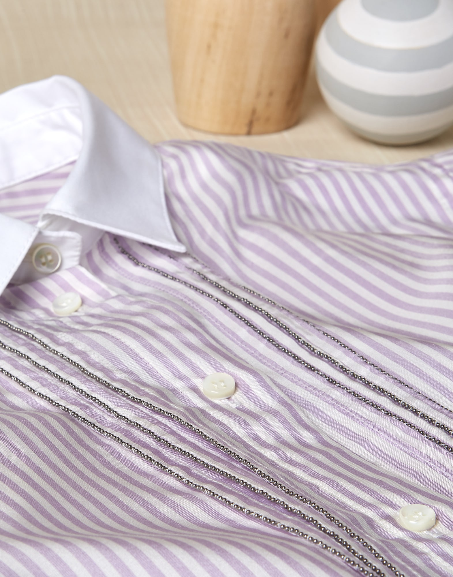 Shirt Lilac Girl 0 - Brunello Cucinelli