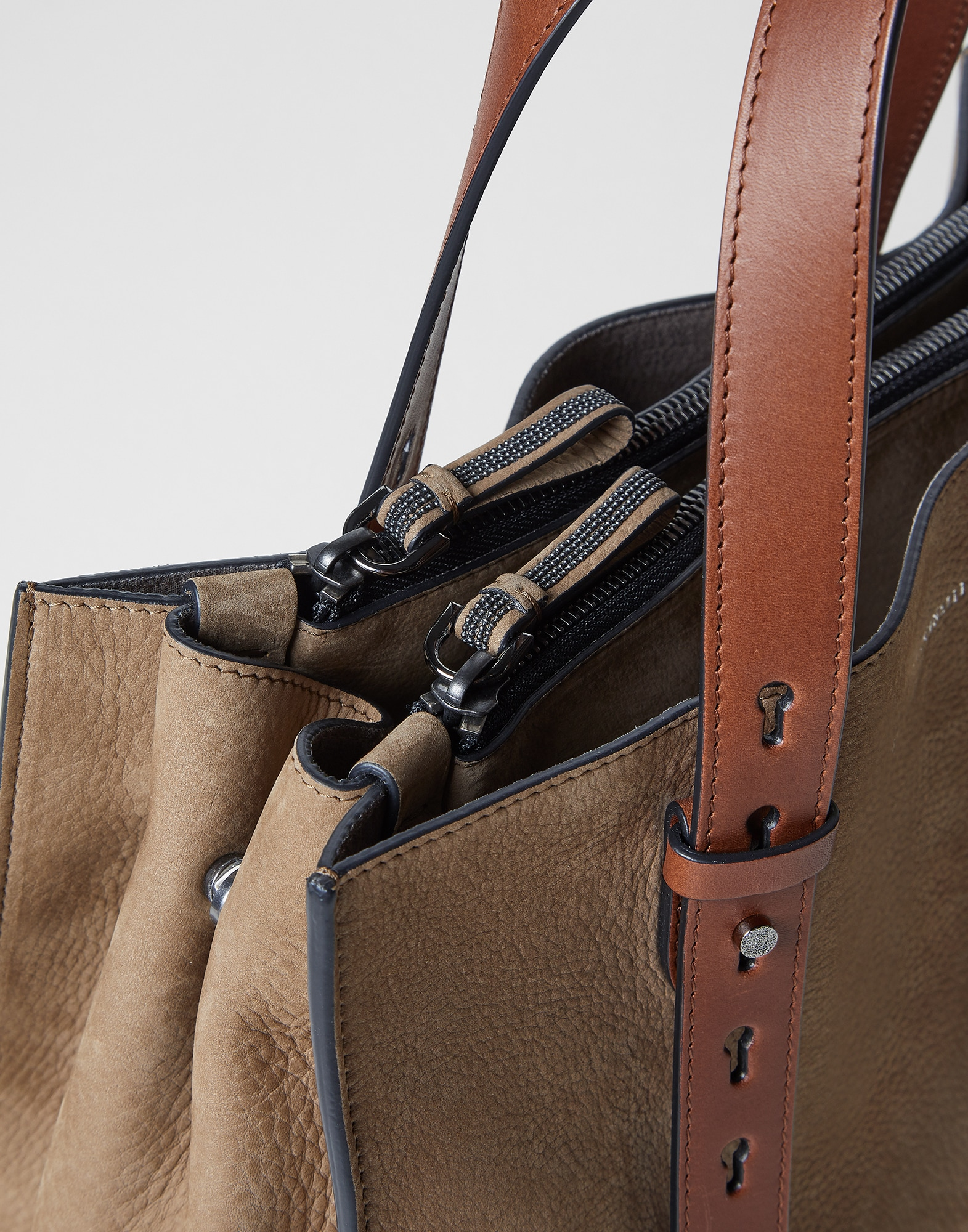 Shopper Bag Hazelnut Woman 2 - Brunello Cucinelli