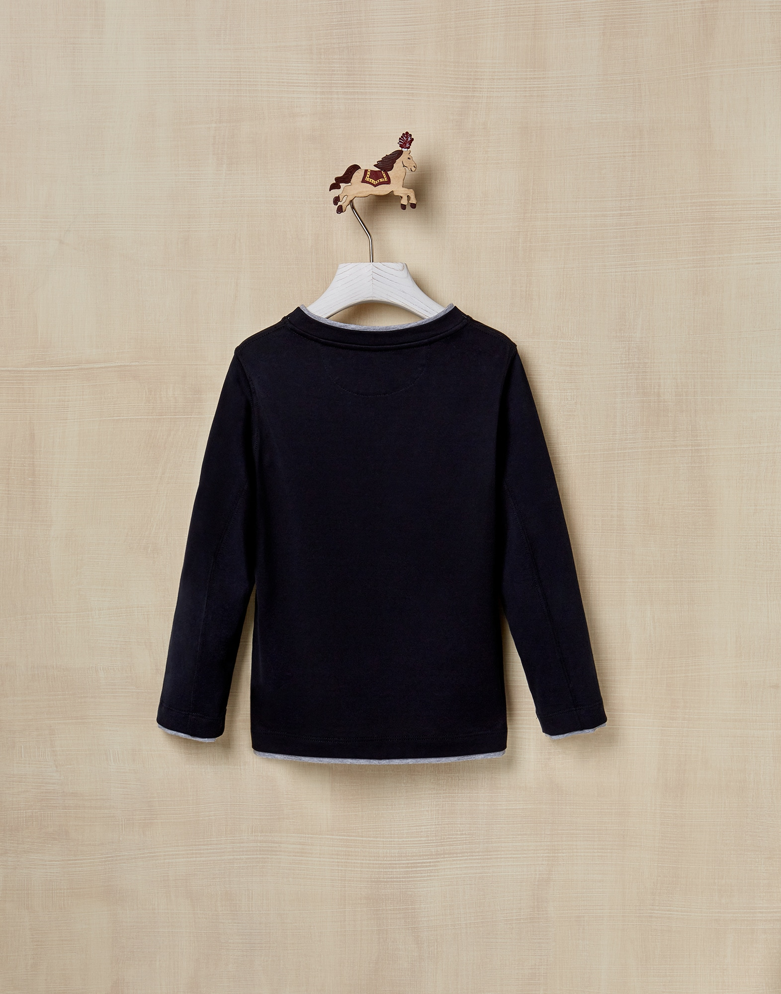 T-Shirt Navy Blue Boy 2 - Brunello Cucinelli