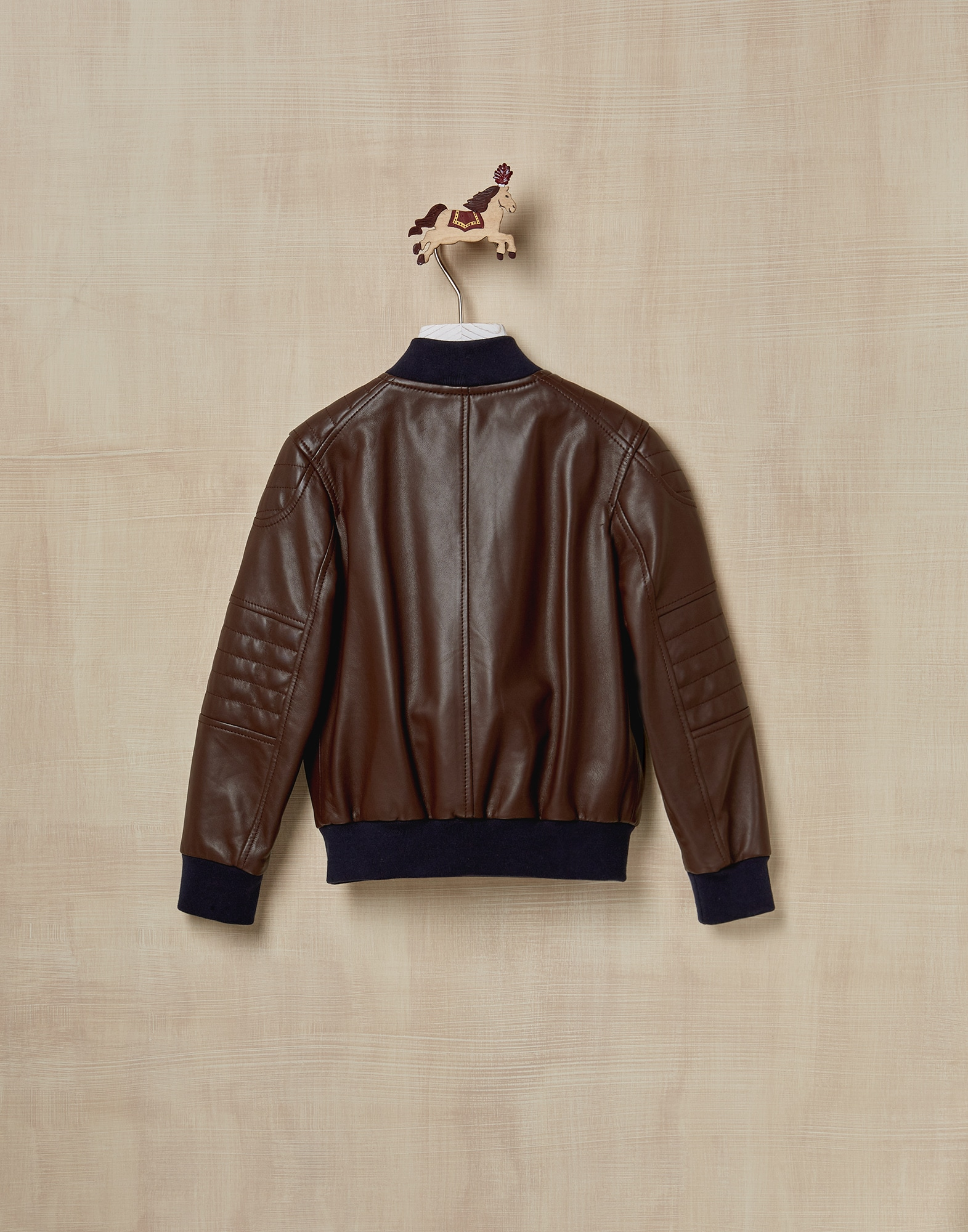 Leather Chestnut Boy 1 - Brunello Cucinelli