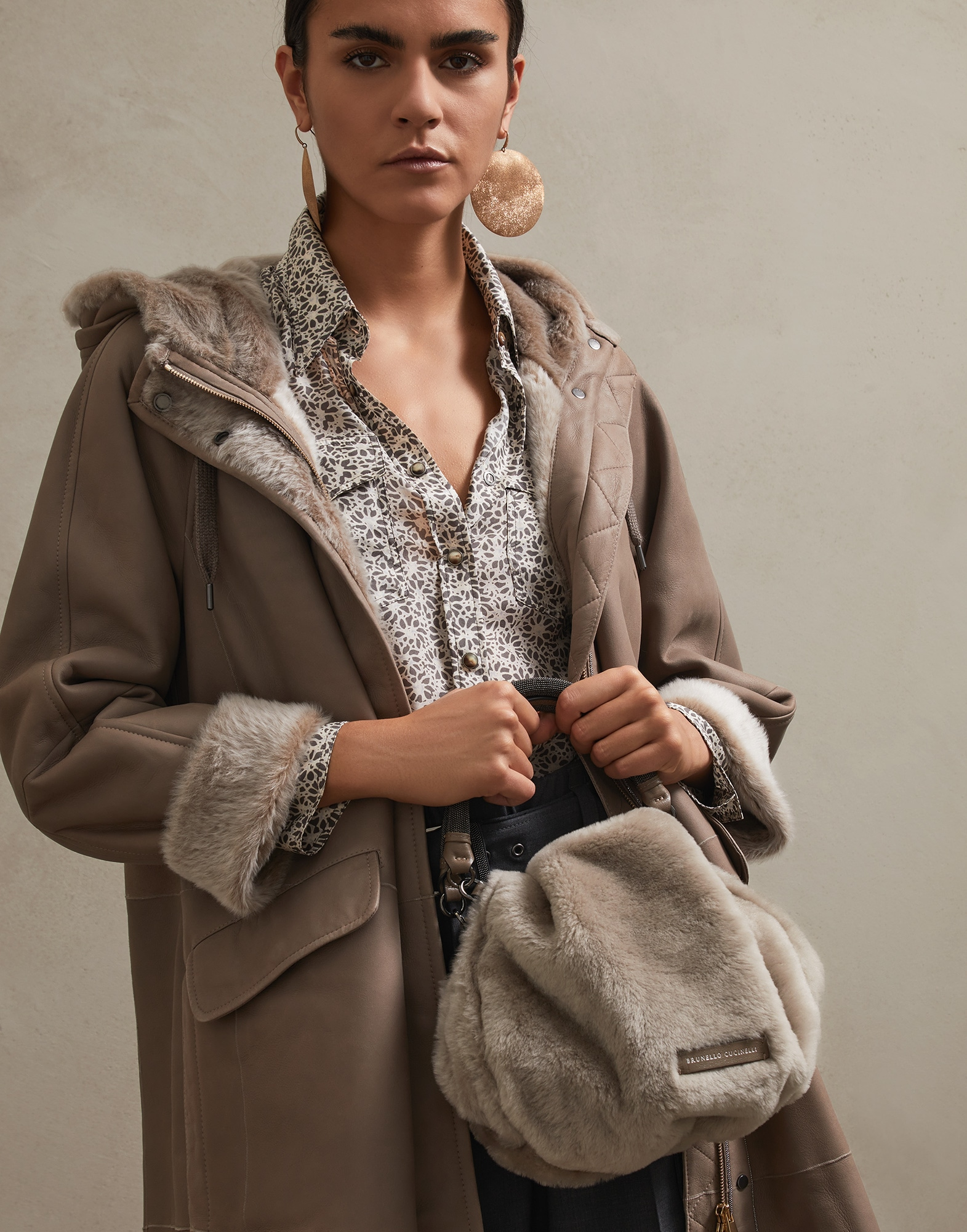 Shopper Bag Light Brown Woman 4 - Brunello Cucinelli