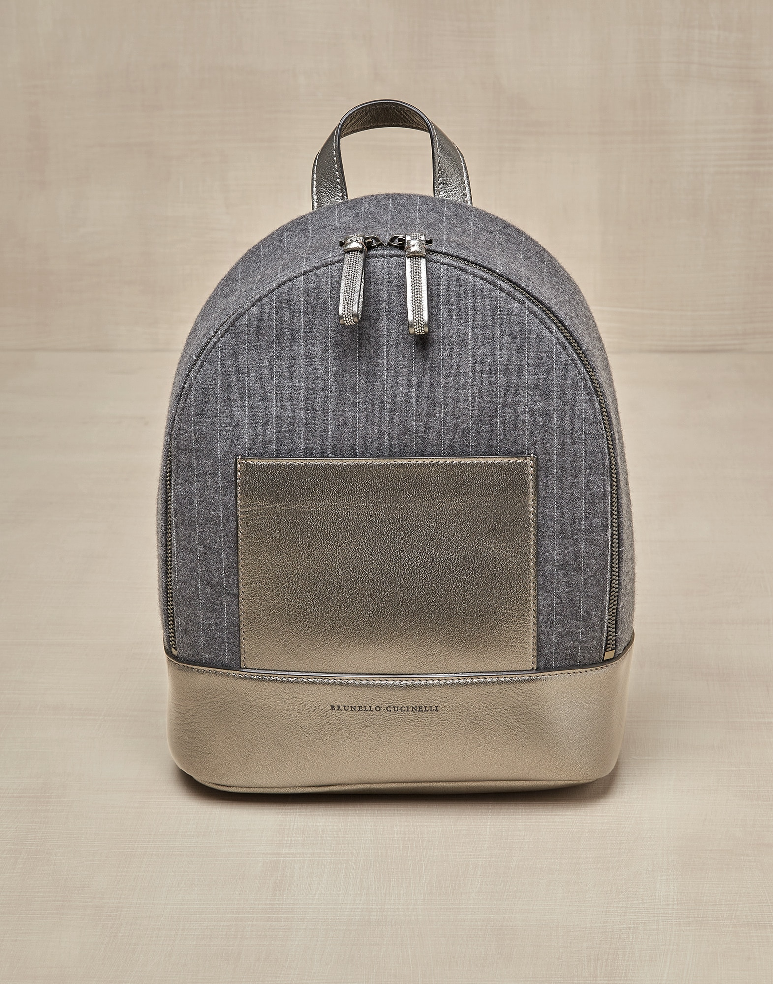 Backpack Grey Girl 0 - Brunello Cucinelli