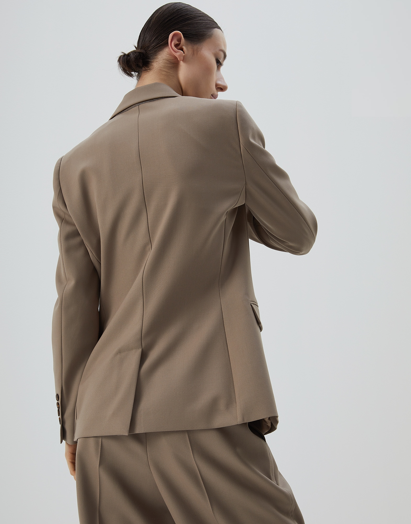 Blazer Brown Woman 1 - Brunello Cucinelli