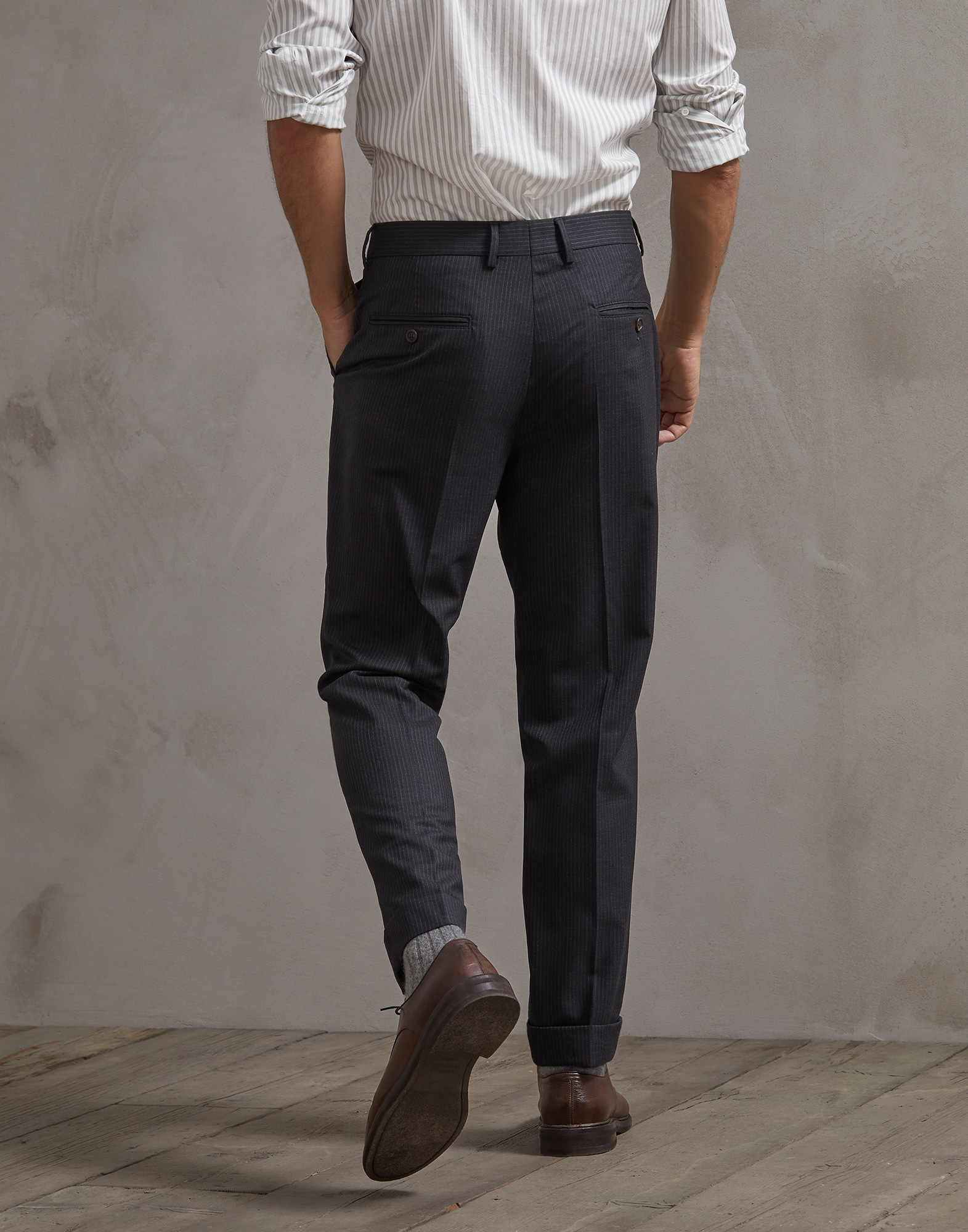 Trousers Dark Grey Man 1 - Brunello Cucinelli