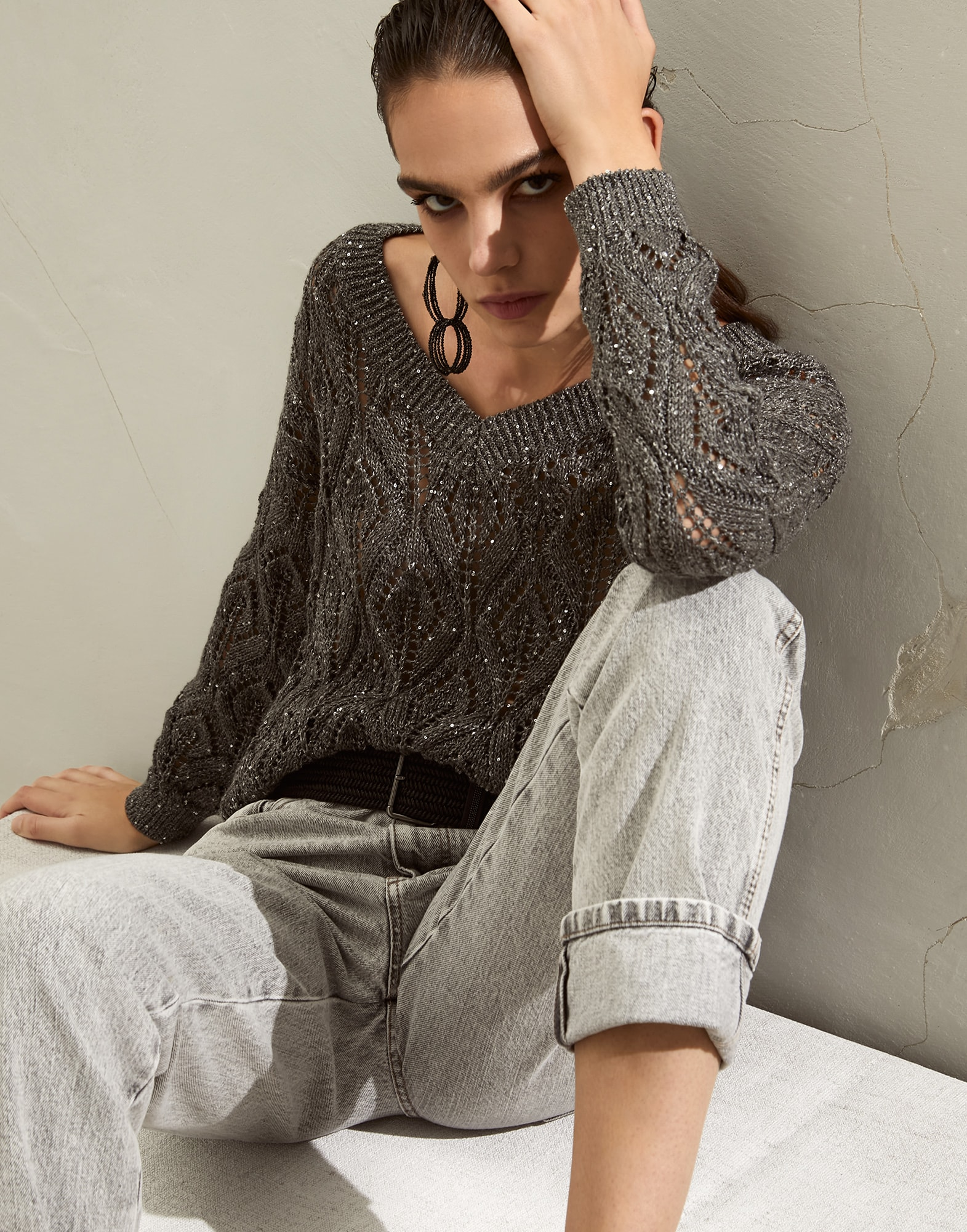 V-neck Sweater - Editorial view