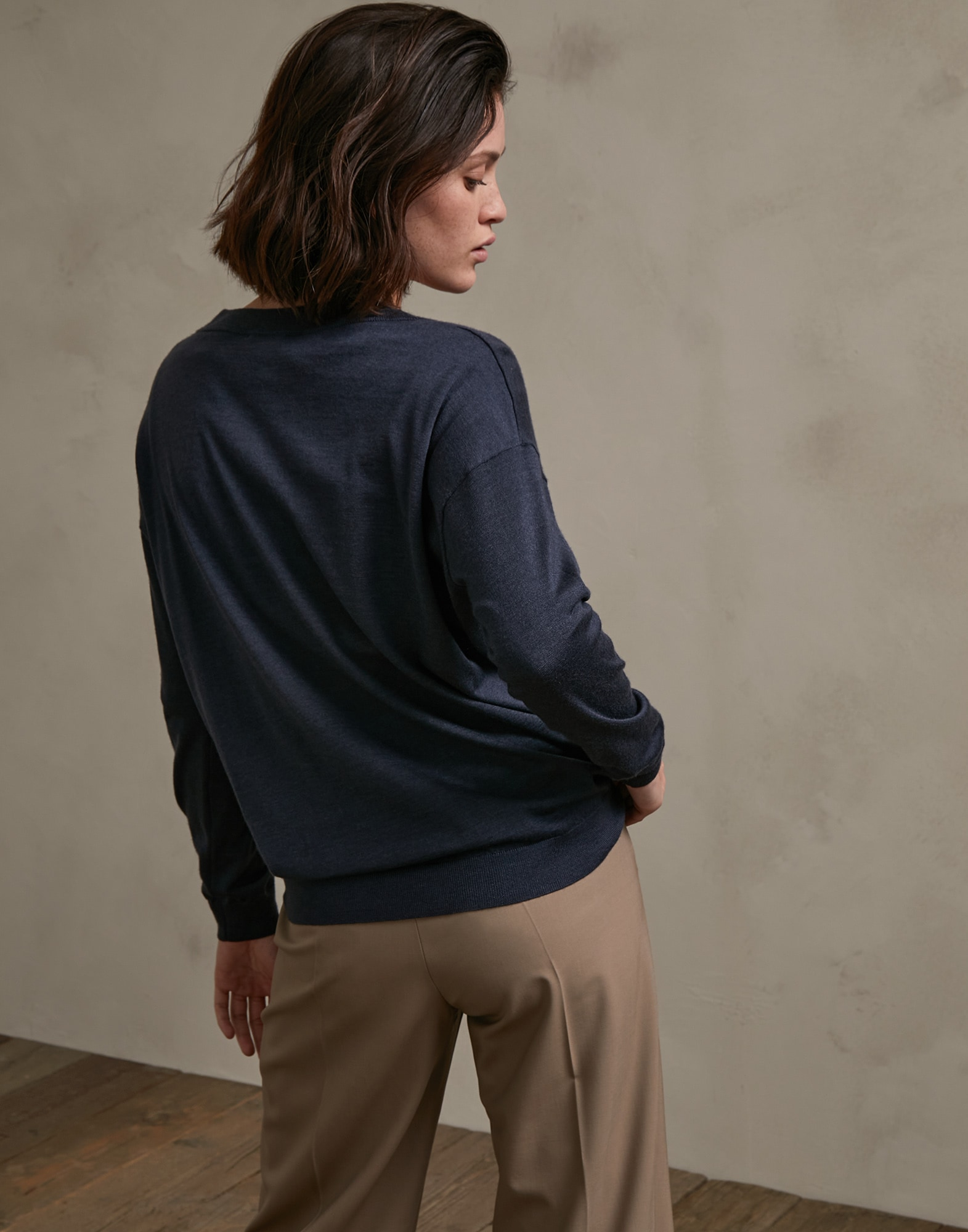 V-neck Sweater - Back view