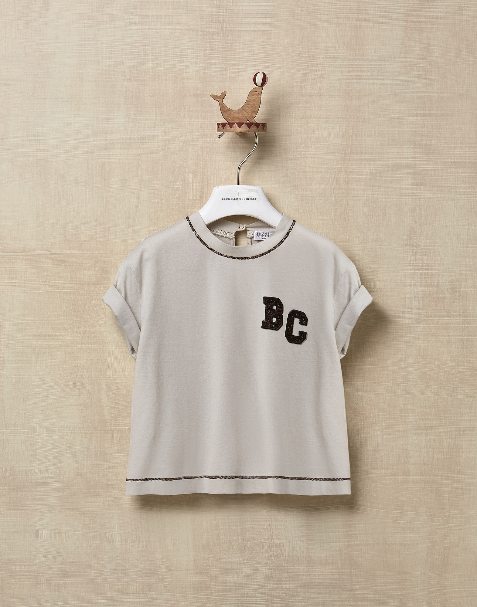 T-Shirt Rice Girl 0 - Brunello Cucinelli