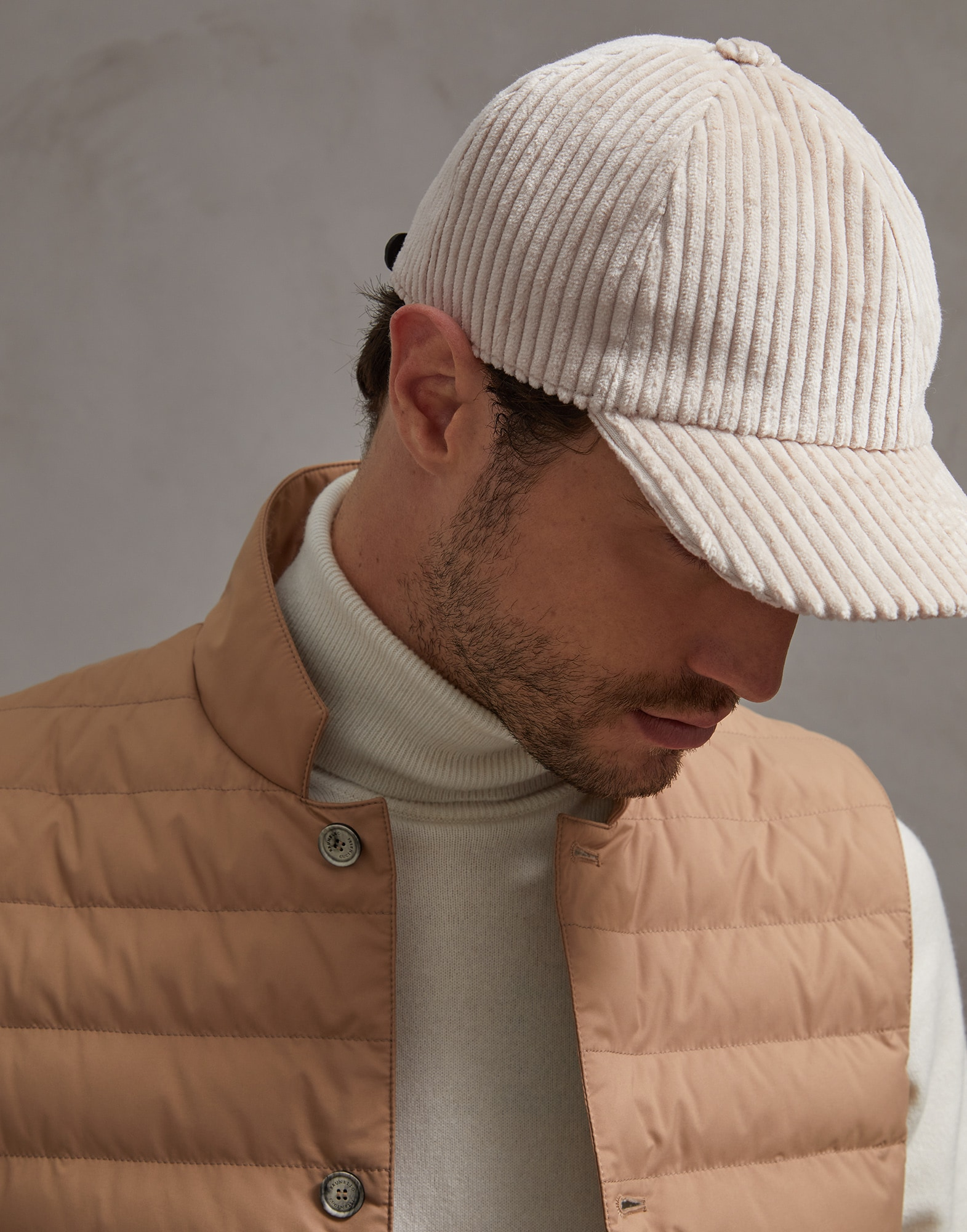 Hat Beige Man 1 - Brunello Cucinelli