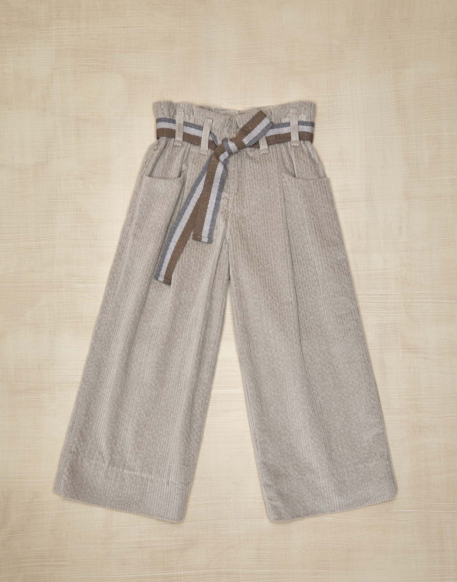 Trousers Light Brown Girl 0 - Brunello Cucinelli