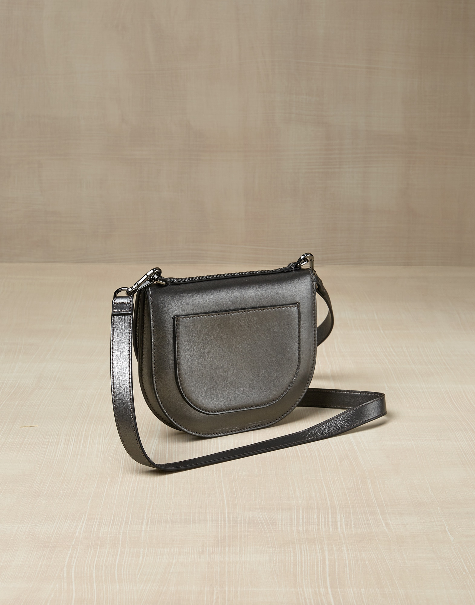 Shoulder Bag Dark Grey Girl 1 - Brunello Cucinelli