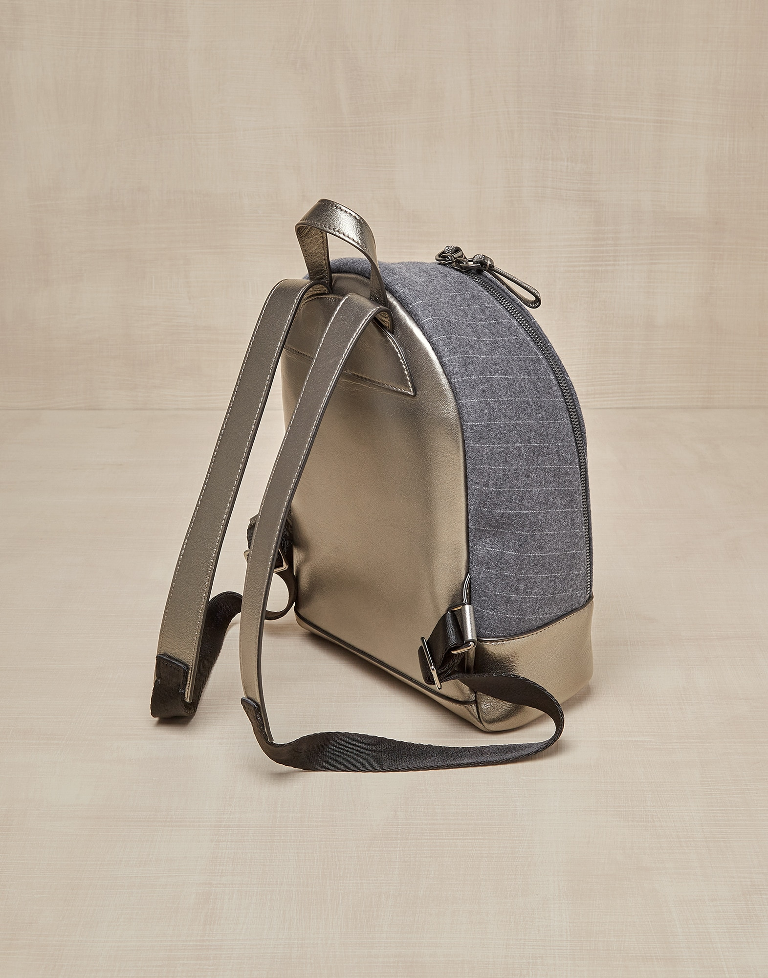Backpack Grey Girl 1 - Brunello Cucinelli