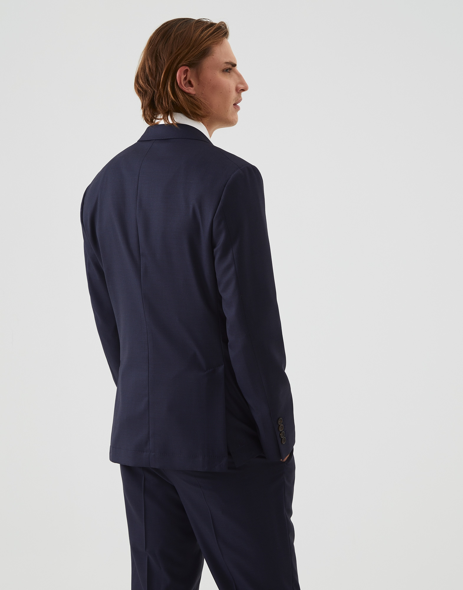 Single Breasted Blazer - Back view