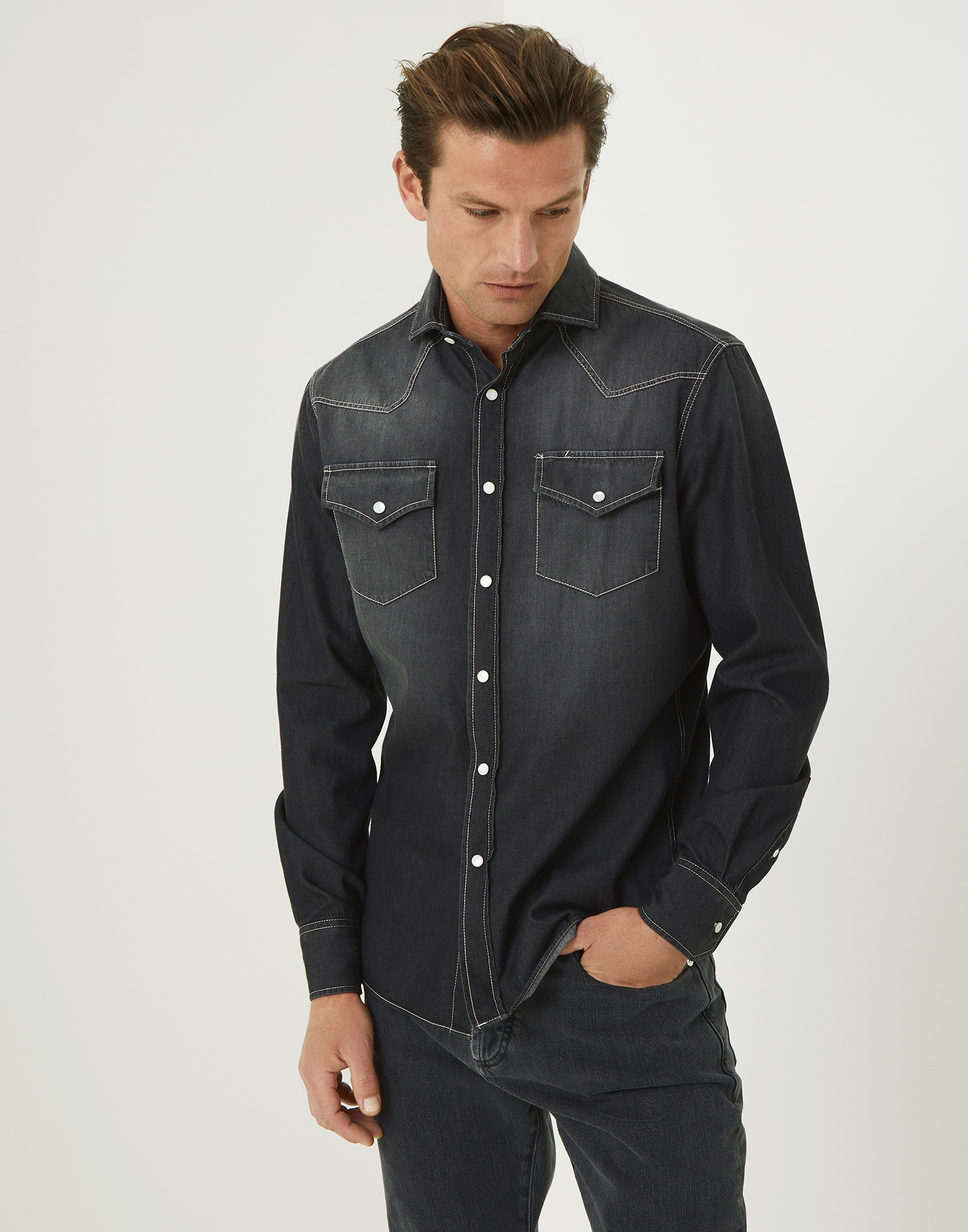 Denim Shirt - Front