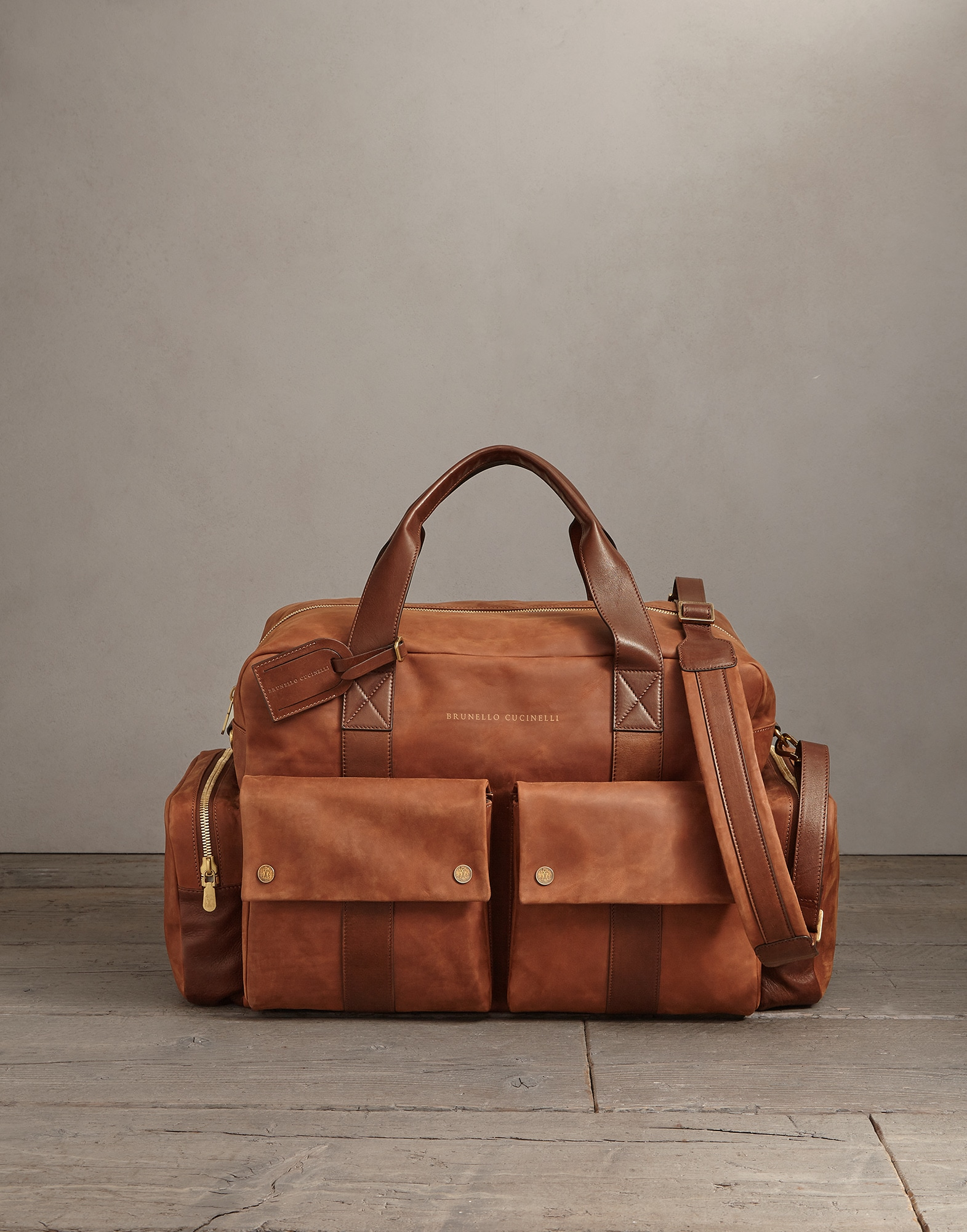 Leisure Bag Bark Man 0 - Brunello Cucinelli