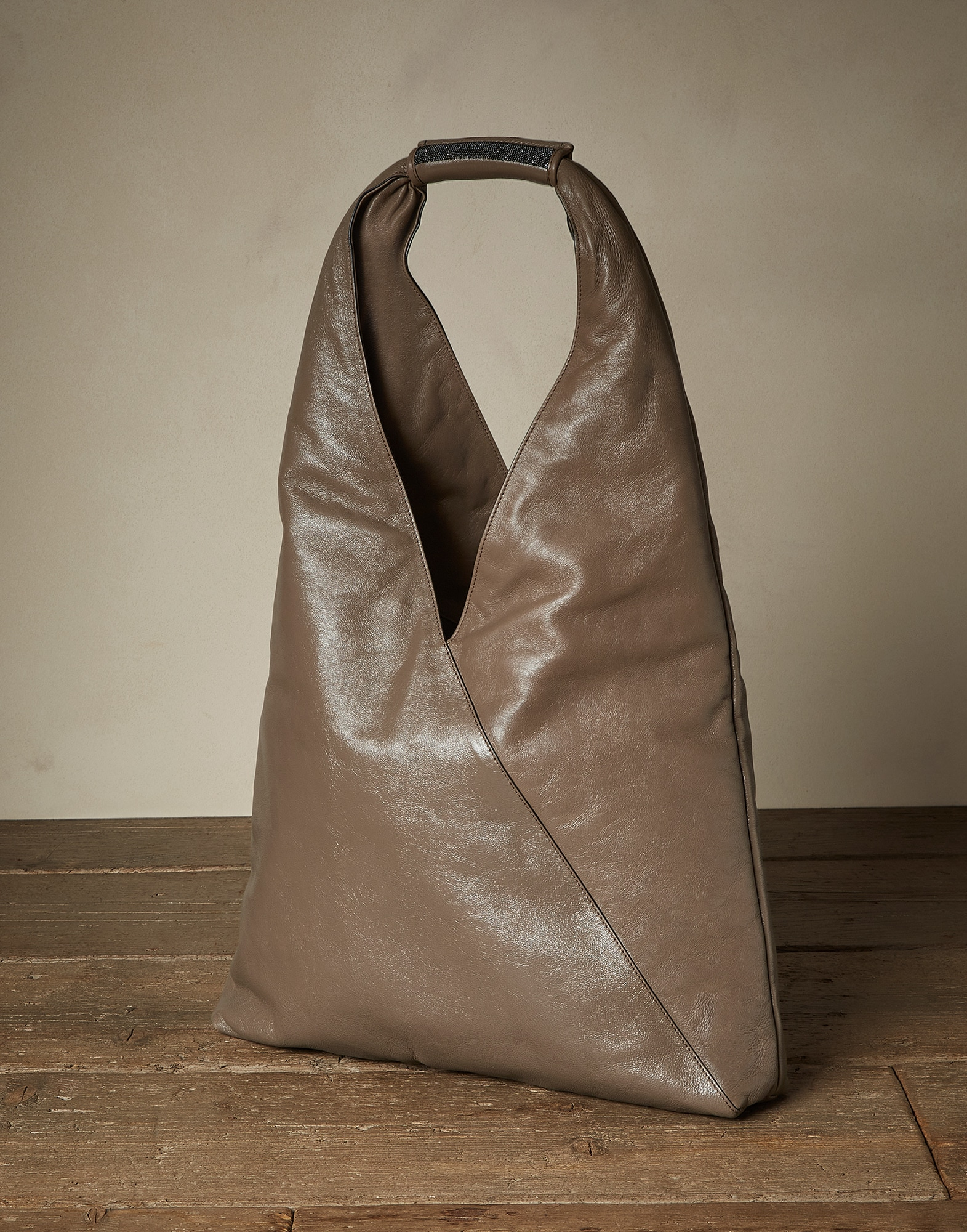 Shopper Bag Mud Woman 1 - Brunello Cucinelli