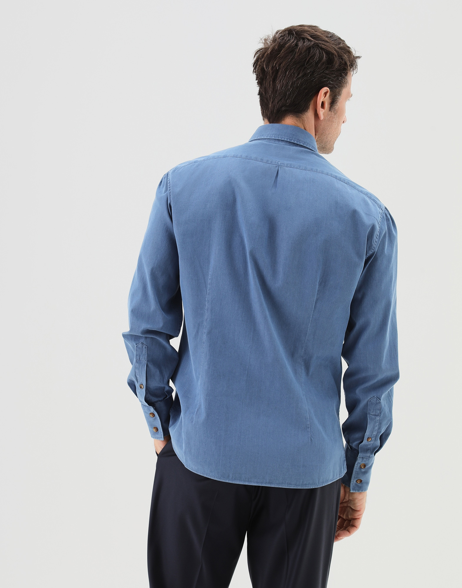 Button-Down-Hemd - Back