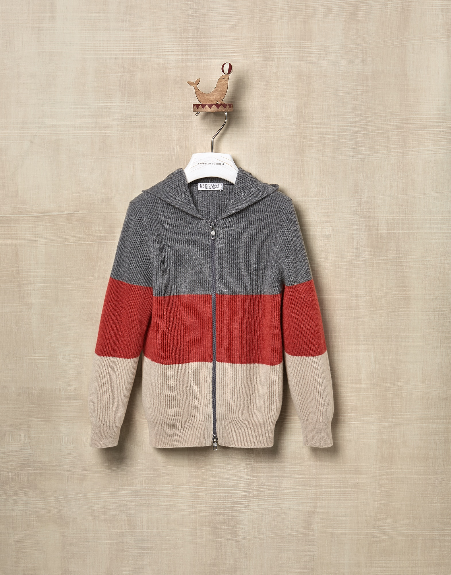 Cardigan Dark Grey Boy 0 - Brunello Cucinelli