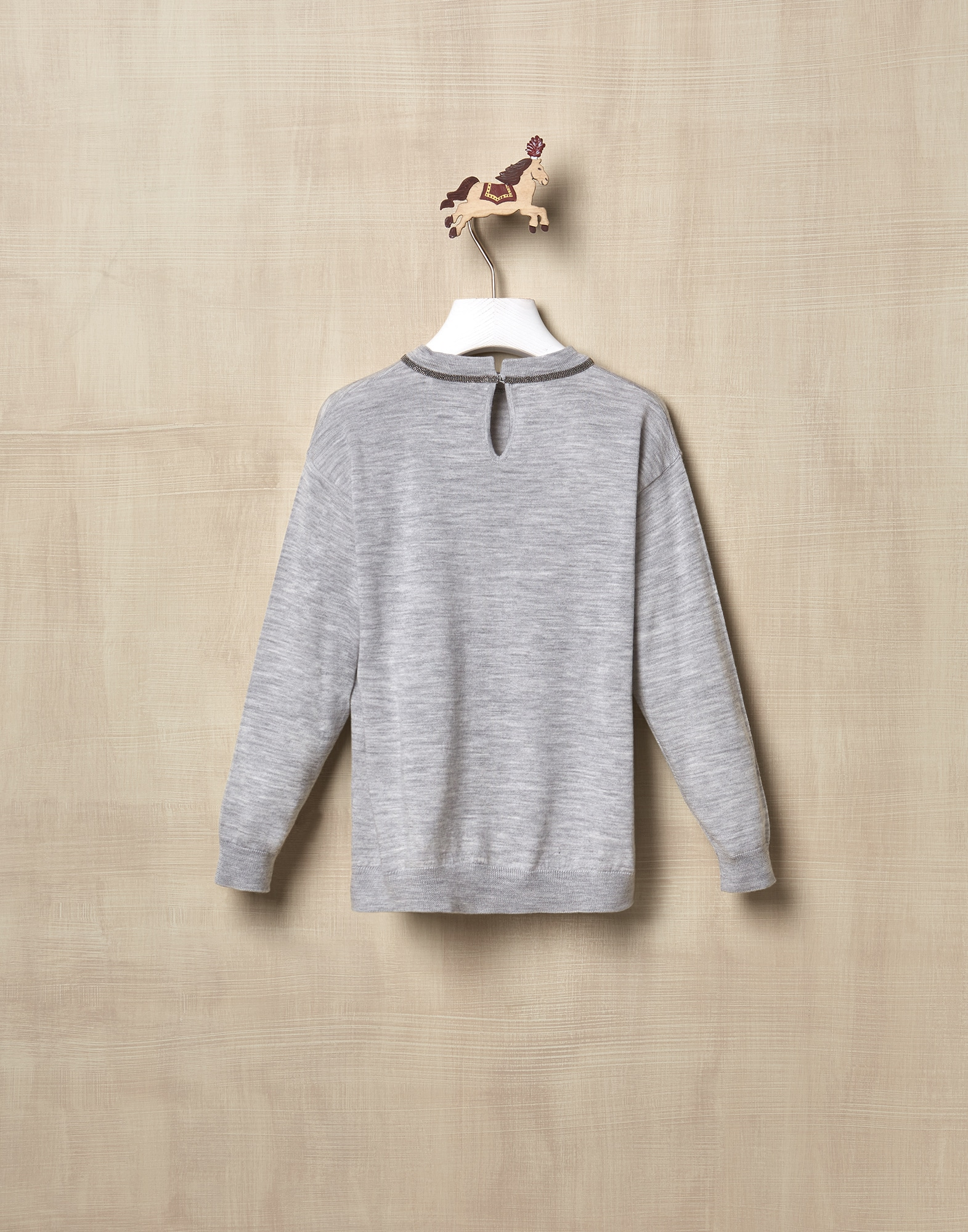 Crewneck Sweater Pebble Girl 1 - Brunello Cucinelli