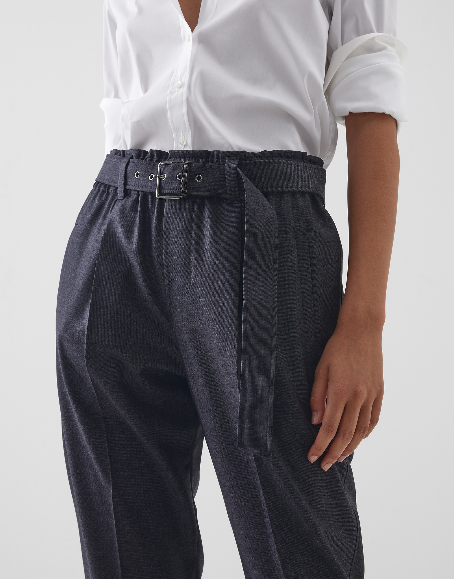 Trousers Lignite Woman 2 - Brunello Cucinelli