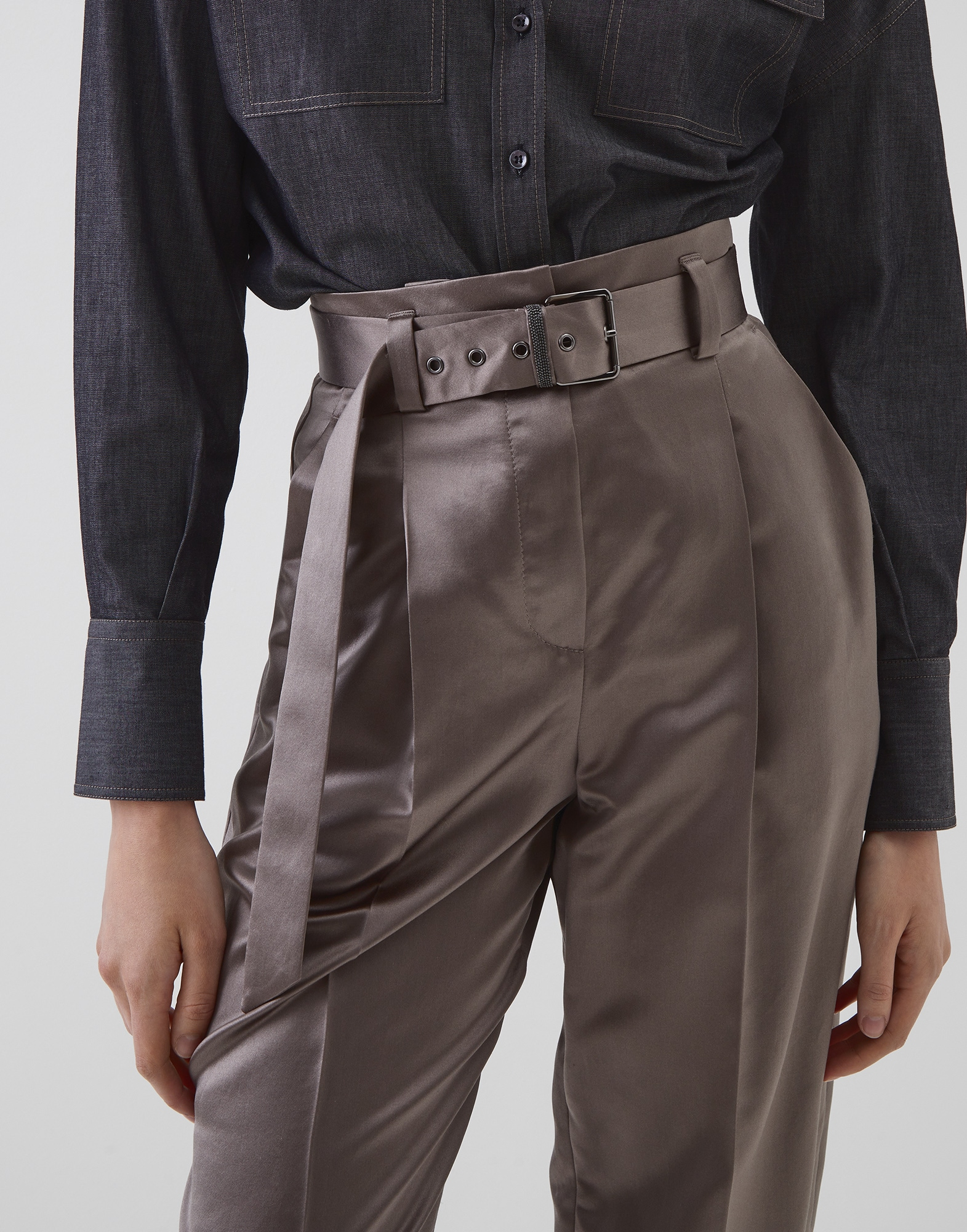 Trousers Mud Woman 2 - Brunello Cucinelli