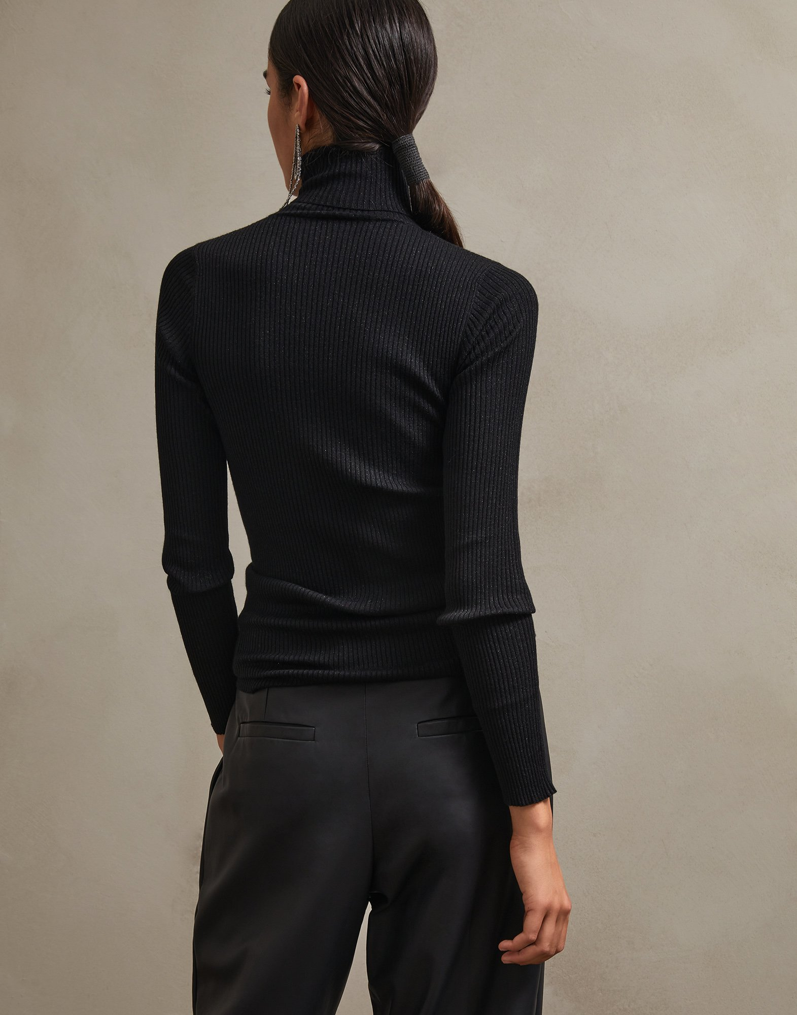 High Neck Sweater - Back
