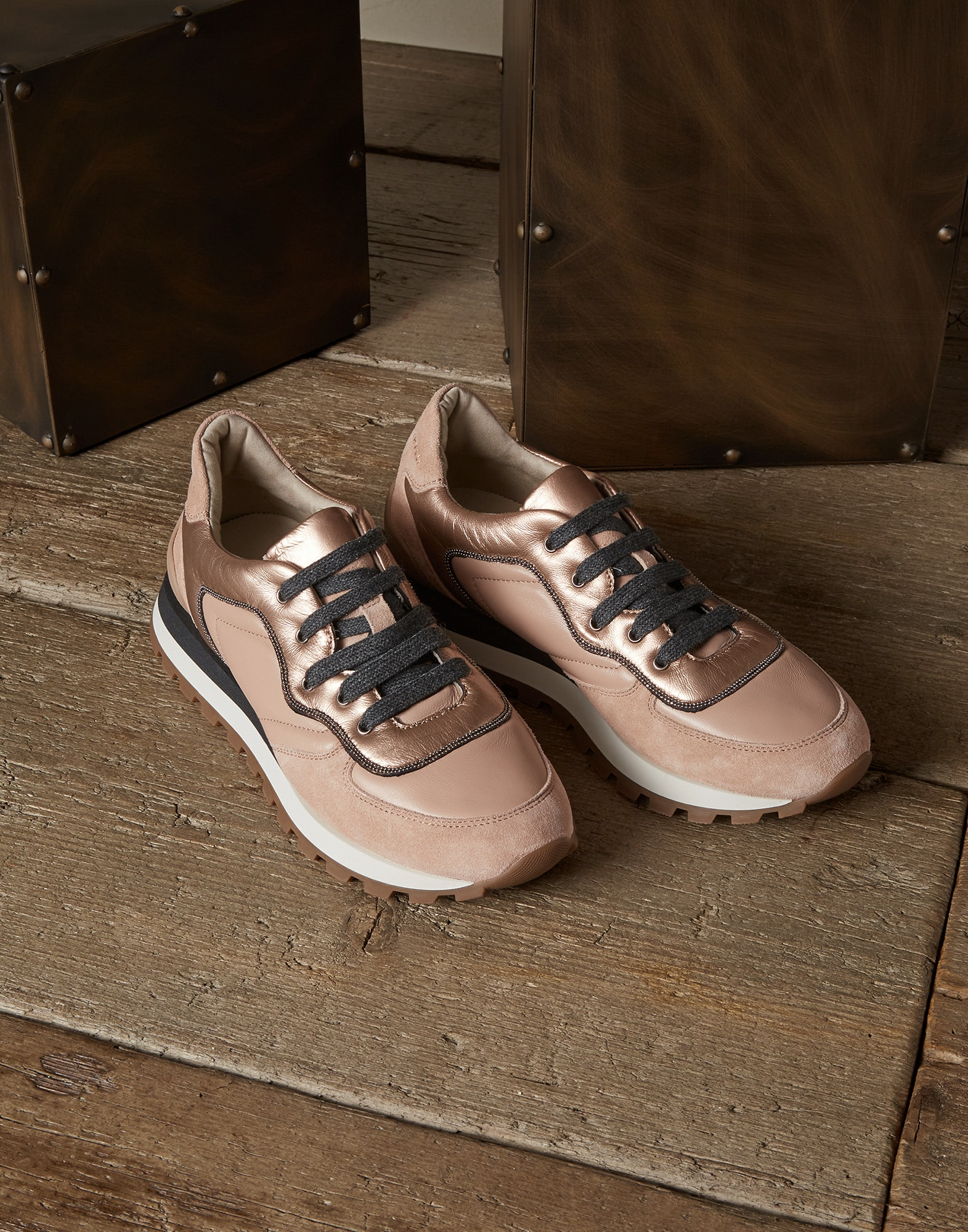 Sneakers Rose Gold Woman 1 - Brunello Cucinelli