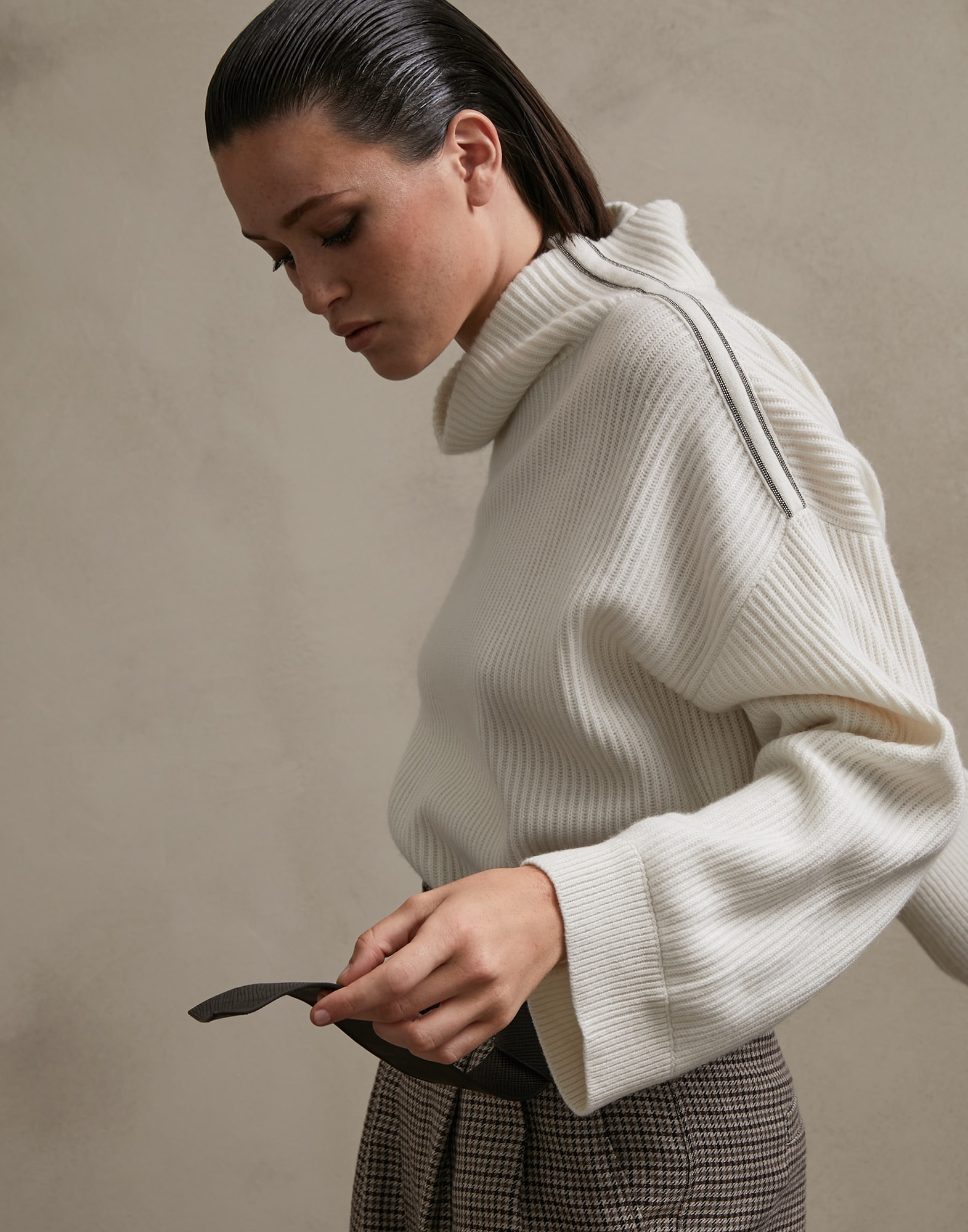 High Neck Sweater - Editorial view