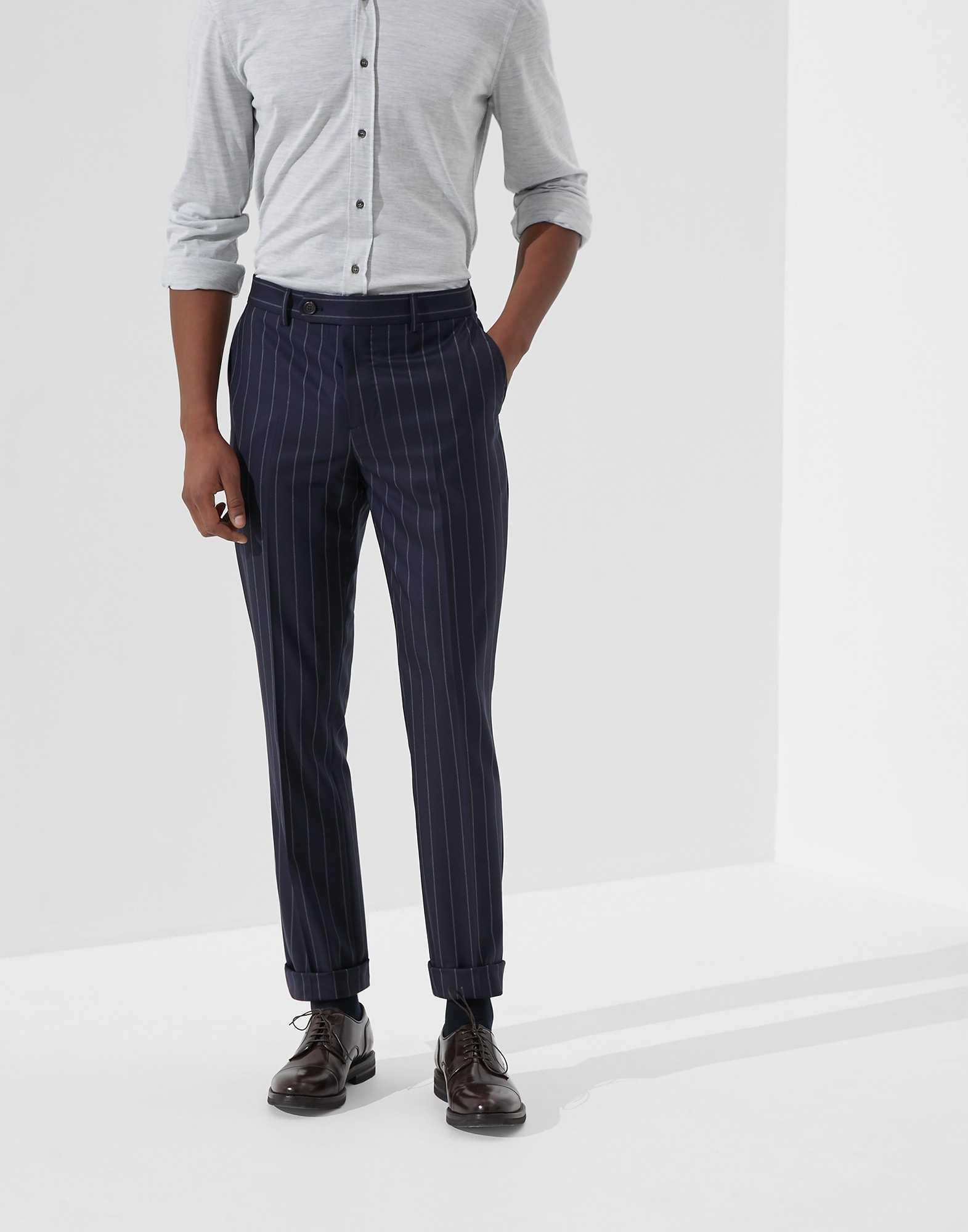 Trousers Blue Man 0 - Brunello Cucinelli