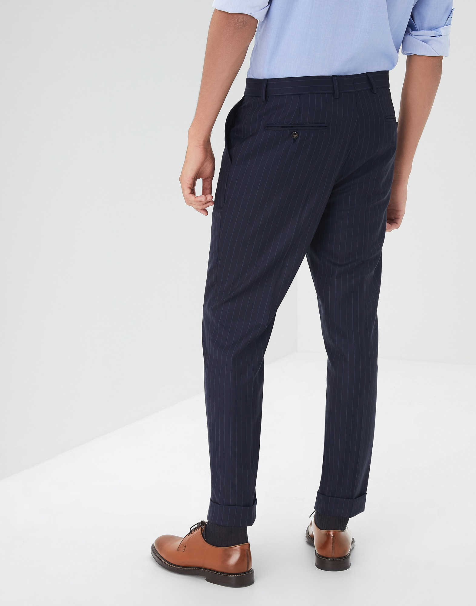 Trousers Navy Blue Man 1 - Brunello Cucinelli