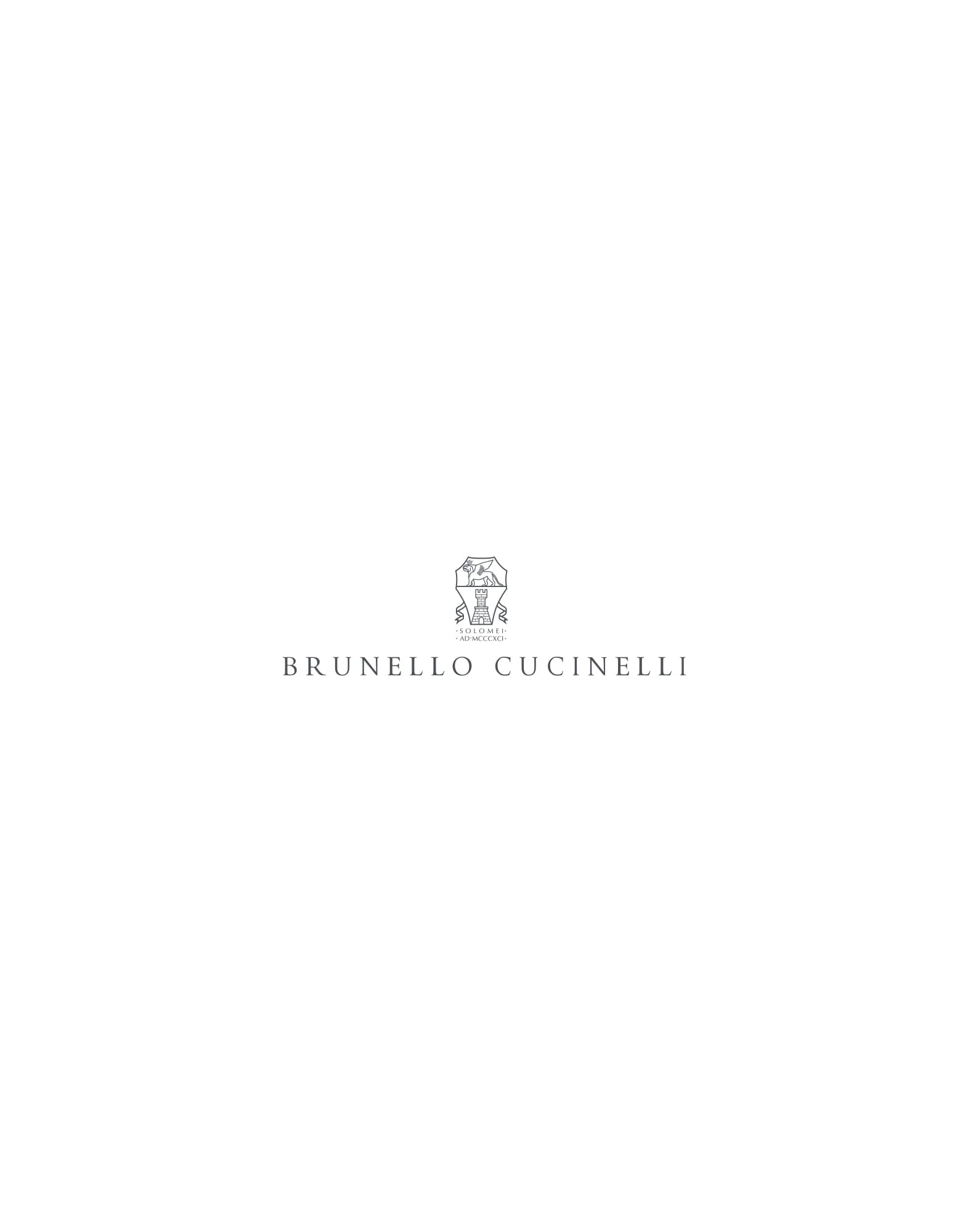 Linen and cotton pocket square Light Grey Man - Brunello Cucinelli